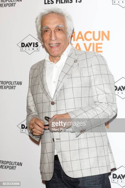 Actor Gerard Darmon attends the 'Chacun sa vie' Premiere at Cinema UGC Normandie on March 13 2017 in Paris France