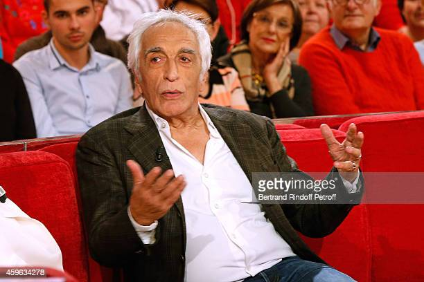 Actor Gerard Darmon presents the first season of the TV series 'Duel au Soleil' during the 'Vivement Dimanche' French TV Show at Pavillon Gabriel on...