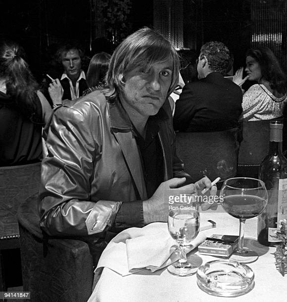 Actor Gerard DePardieu attending 'Fifth Anniversary Party for Regine's' on October 8 1980 at Regine's in New York City New York