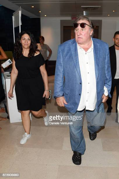 Actor Gerard Depardieu attends Nations Award press conference on on July 28 2017 in Taormina Italy