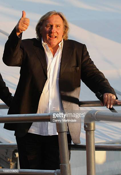 Actor Gerard Depardieu attends the 63rd Cannes Film Festival on May 20 2010 in Cannes France