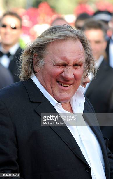 Actor Gerard Depardieu attends the 'Fair Game' Premiere held at the Palais des Festivals during the 63rd Annual International Cannes Film Festival on...
