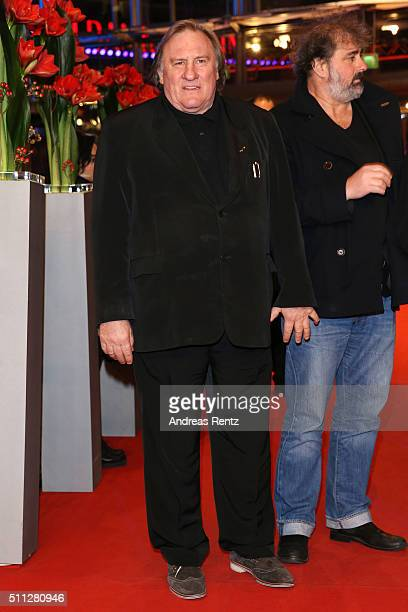 Actor Gerard Depardieu attends the 'Saint Amour' premiere during the 66th Berlinale International Film Festival Berlin at Berlinale Palace on...