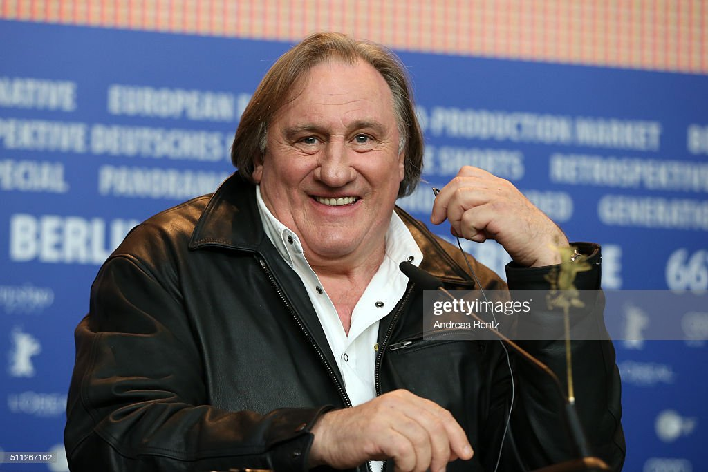 Actor Gerard Depardieu attends the 'Saint Amour' press conference during the 66th Berlinale International Film Festival Berlin at Grand Hyatt Hotel on February 19, 2016 in Berlin, Germany.