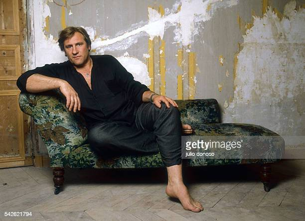 Actor Gerard Depardieu sits by a damaged wall in Paris He is releasing the 1987 film Sous le soleil de Satan or Under Satan's Sun directed by Maurice...