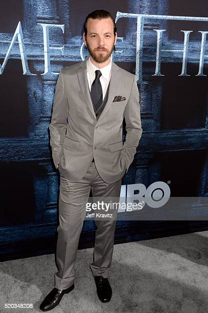 Actor Gethin Anthony attends the premiere for the sixth season of HBO's 'Game Of Thrones' at TCL Chinese Theatre on April 10 2016 in Hollywood City