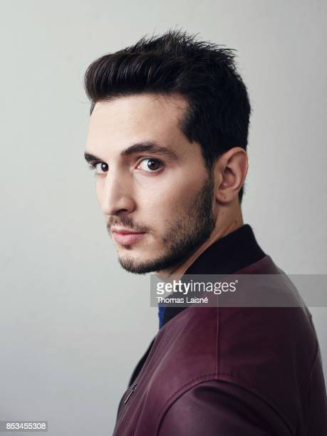 Actor Giacomo Ferrara from the Tv Show 'Suburra' dressed in David Naman is photographed for Self Assignment on September 1 2017 in Venice Italy