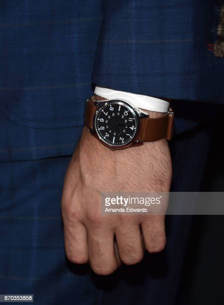 Actor Giacomo Gianniotti watch detail arrives at the 300th Episode Celebration for ABC's 'Grey's Anatomy' at TAO Hollywood on November 4 2017 in Los...
