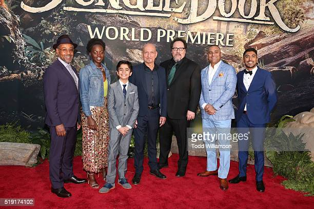 Actor Giancarlo Esposito actress Lupita Nyong'o actor Neel Sethi actor Ben Kingsley director/producer Jon Favreau actor Russell Peters and actor...