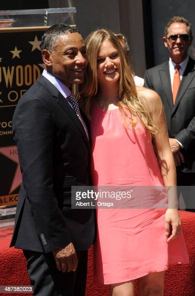 Actor Giancarlo Esposito and actress Tracy Spiridakos attends the Giancarlo Esposito Star Ceremoney On The Hollywood Walk Of Fame on April 29 2014 in...