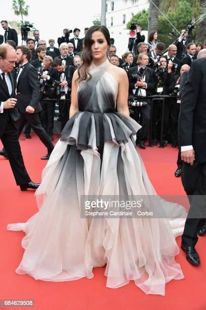Actor Gianna Simone attends the 'Loveless ' premiere during the 70th annual Cannes Film Festival at Palais des Festivals on May 18 2017 in Cannes...