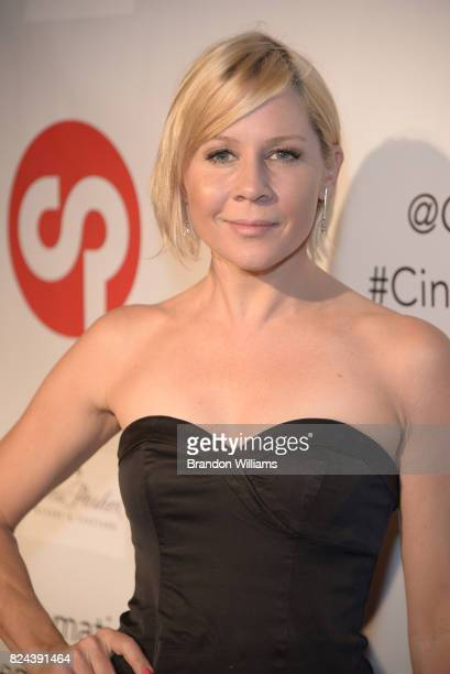 Actor Gigi Edgley attends the reveal of the 'Longmire' coffee table book by Cinematic Pictures Group Publishing at Cinematic Pictures Gallery on July...