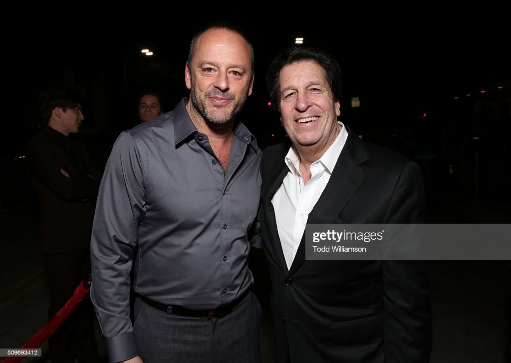Actor Gil Bellows and producer <a gi-track='captionPersonalityLinkClicked' href=/galleries/search?phrase=Peter+Roth&family=editorial&specificpeople=239477 ng-click='$event.stopPropagation()'>Peter Roth</a> attend the Hulu Original '11.22.63' premiere at the Regency Bruin Theatre on February 11, 2016 in Los Angeles, California.
