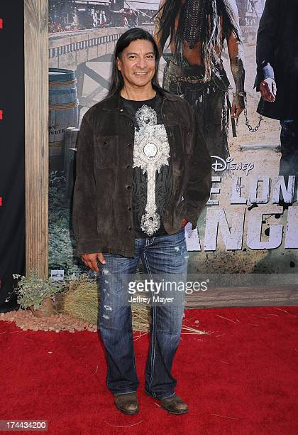 Actor Gil Birmingham arrives at 'The Lone Ranger' World Premiere at Disney's California Adventure on June 22 2013 in Anaheim California