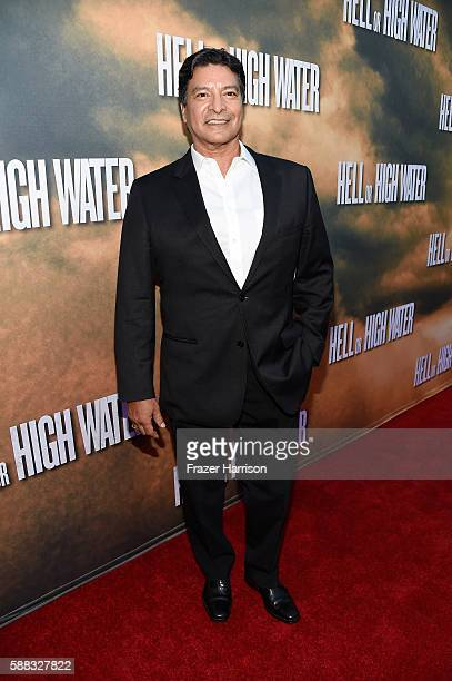 Actor Gil Birmingham arrives at the Los Angeles Red Carpet Screening Of 'Hell Or High Water' at ArcLight Cinemas on August 10 2016 in Hollywood...