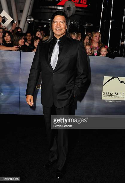 Actor Gil Birmingham arrives at 'The Twilight Saga Breaking Dawn Part 2' Los Angeles premiere at Nokia Theatre LA Live on November 12 2012 in Los...