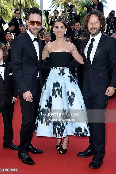 Actor Gilad Kahana director Natalie Portman and producer Ram Bergman attend the Premiere of 'A Tale Of Love And Darkness' during the 68th annual...