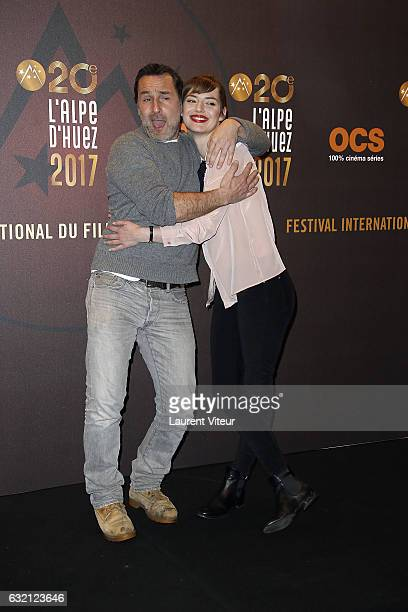 Actor Gilles Lellouche and Actress Louise Bourgoin attend 'Sous le Meme Toit' Photocall during tne 20th L'Alpe D'Huez International Film Festival on...