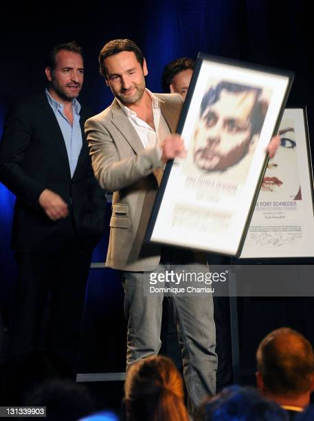 Actor Gilles Lellouche awarded during the Romy Schneider And Patrick Dewaere Awards 2011 at Le Bon Marche on April 4 2011 in Paris France