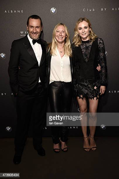 Actor Gilles Lellouche director Fabienne Berthaud and actress Diane Kruger attend a rooftop reception for the upcoming movie SKY during the 68th...
