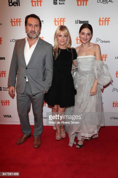 Actor Gilles Lellouche director Melanie Laurent and actress Maria Valverde attend the 'Plonger' premiere during the 2017 Toronto International Film...