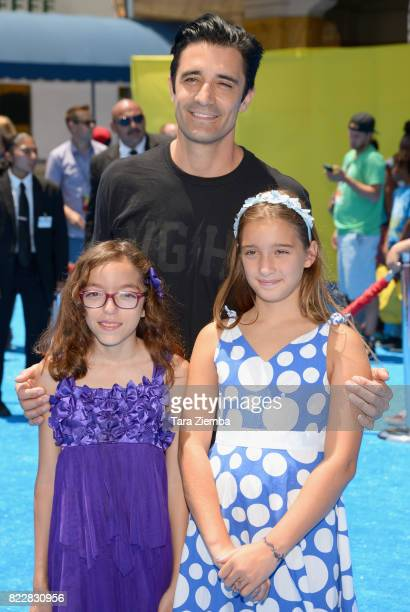 Actor Gilles Marini and his children attend the premiere of Columbia Pictures and Sony Pictures Animation's 'The Emoji Movie' at Regency Village...
