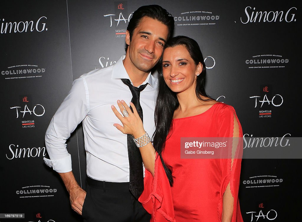 Actor <a gi-track='captionPersonalityLinkClicked' href=/galleries/search?phrase=Gilles+Marini&family=editorial&specificpeople=5360860 ng-click='$event.stopPropagation()'>Gilles Marini</a> (L) and his wife <a gi-track='captionPersonalityLinkClicked' href=/galleries/search?phrase=Carole+Marini&family=editorial&specificpeople=5722127 ng-click='$event.stopPropagation()'>Carole Marini</a> arrive at the annual Simon G. Soiree at the Tao Nightclub at The Venetian Las Vegas on June 1, 2013 in Las Vegas, Nevada.