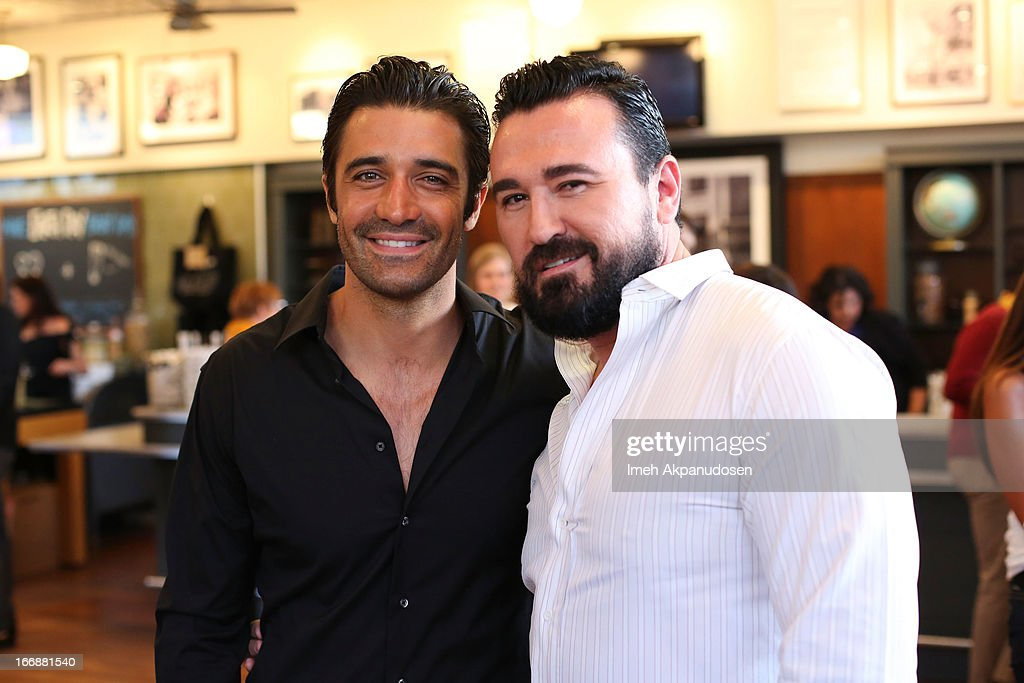 Actor <a gi-track='captionPersonalityLinkClicked' href=/galleries/search?phrase=Gilles+Marini&family=editorial&specificpeople=5360860 ng-click='$event.stopPropagation()'>Gilles Marini</a> (L) and Kiehl's USA President <a gi-track='captionPersonalityLinkClicked' href=/galleries/search?phrase=Chris+Salgardo&family=editorial&specificpeople=5384803 ng-click='$event.stopPropagation()'>Chris Salgardo</a> attend Kiehl's launch of an Environmental Partnership Benefiting Recycle Across America at Kiehl's Since 1851 Santa Monica Store on April 17, 2013 in Santa Monica, California.