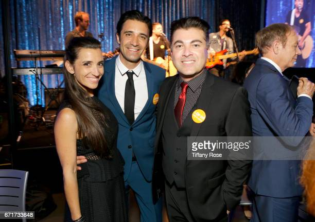 Actor Gilles Marini Carole Marini and Fenix Cosmetics founder and CEO Bill Bakho attend Lupus LA's Orange Ball Rocket to a Cure at the California...