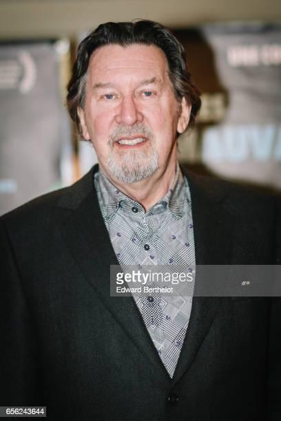Actor Gilles Renaud attends the 'Les Mauvaises Herbes' Paris Premiere photocall at UGC Cine Cite des Halles on March 21 2017 in Paris France