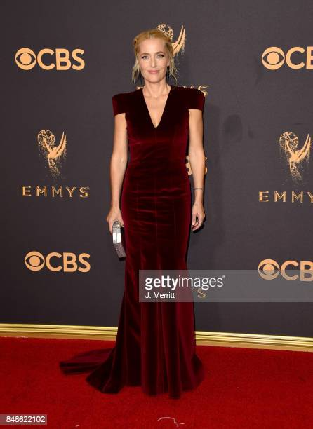 Actor Gillian Anderson attends the 69th Annual Primetime Emmy Awards at Microsoft Theater on September 17 2017 in Los Angeles California