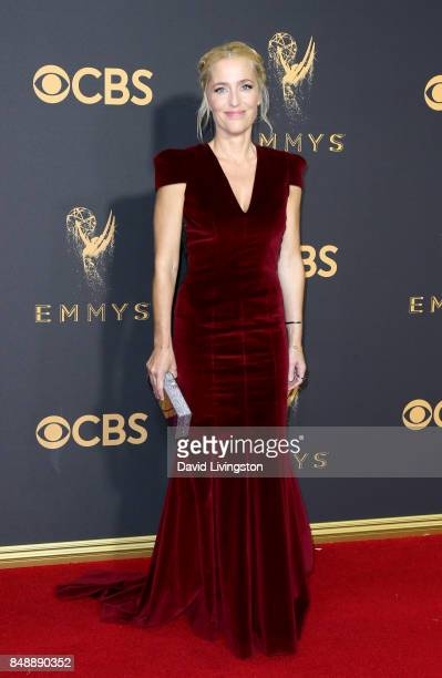 Actor Gillian Anderson attends the 69th Annual Primetime Emmy Awards Arrivals at Microsoft Theater on September 17 2017 in Los Angeles California