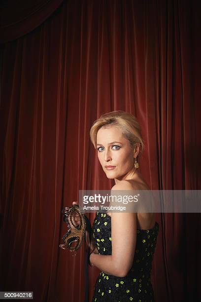 Actor Gillian Anderson is photographed for ES magazine on September 8 2014 in London England