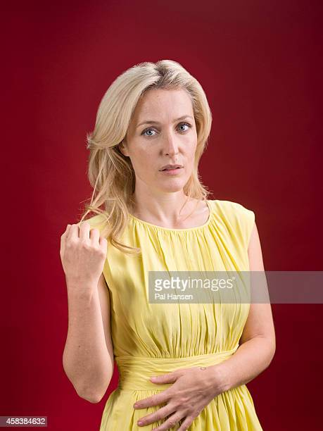 Actor Gillian Anderson is photographed for Sunday Times magazine on June 17 2014 in London England
