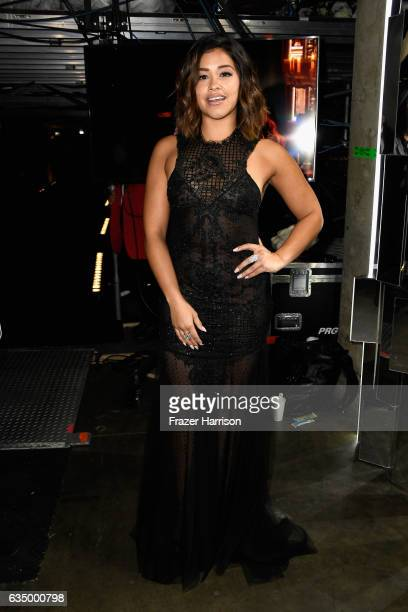 Actor Gina Rodriguez attends The 59th GRAMMY Awards at STAPLES Center on February 12 2017 in Los Angeles California