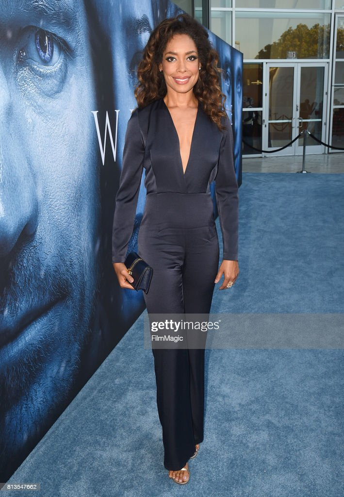 Actor Gina Torres at the Los Angeles Premiere for the seventh season of HBO's 'Game Of Thrones' at Walt Disney Concert Hall on July 12, 2017 in Los Angeles, California.