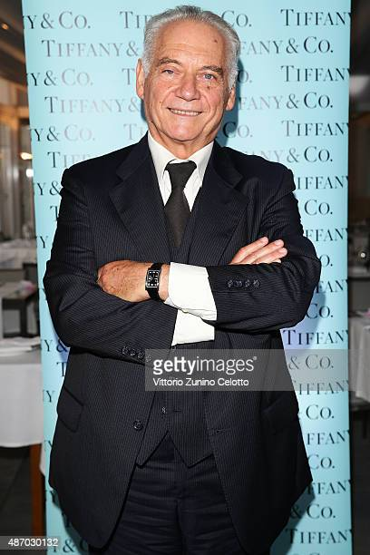 Actor Giorgio Colangeli attends a cocktail reception for 'The Wait' hosted by Tiffany Co during the 72nd Venice Film Festival at Terrazza Biennale on...