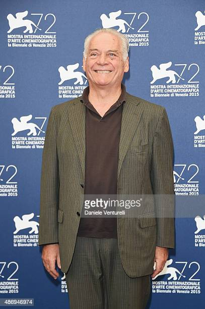 Actor Giorgio Colangeli attends a photocall for 'The Wait' during the 72nd Venice Film Festival at Palazzo del Casino on September 5 2015 in Venice...