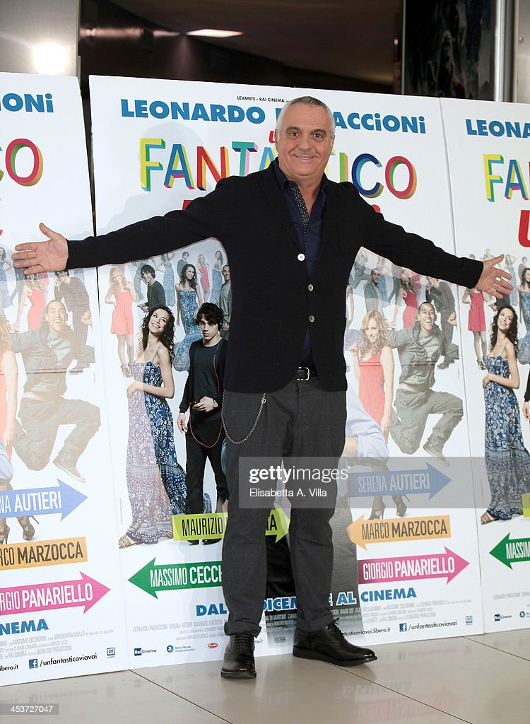Actor Giorgio Panariello attends 'Un Fantastico Via Vai' photocall at Cinema Adriano on December 5, 2013 in Rome, Italy.
