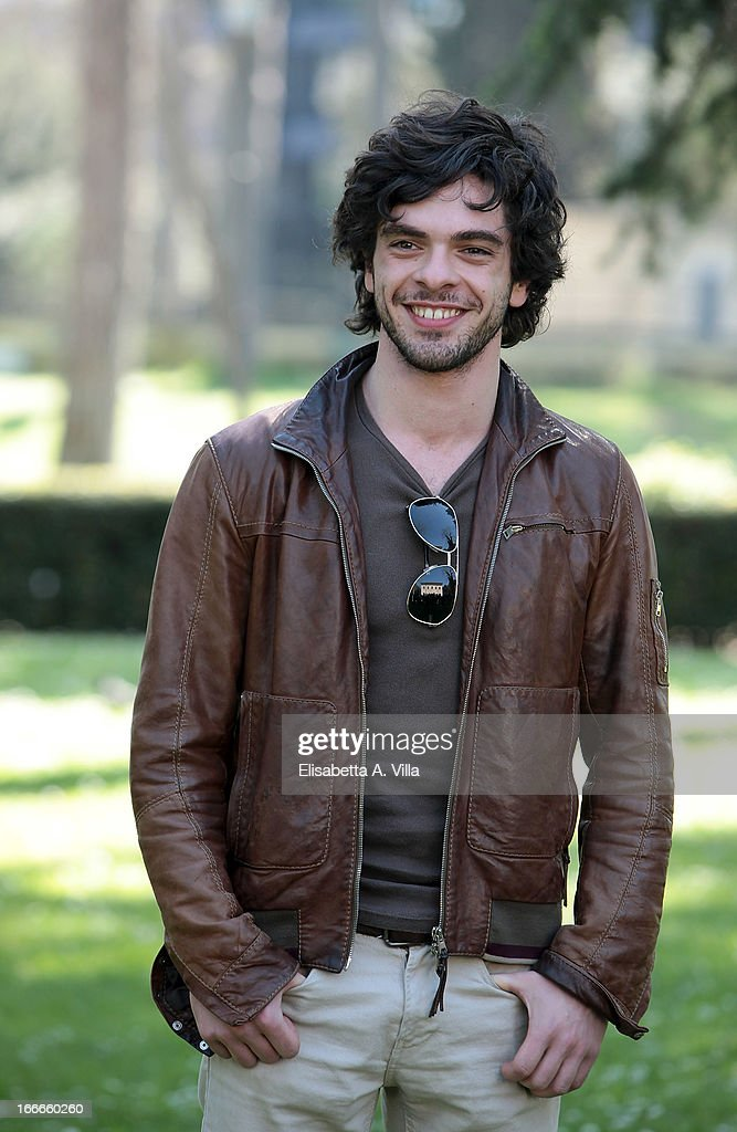 Actor Giovanni Anzaldo attends 'Razza Bastarda' photocall at Villa Borghese on April 15, 2013 in Rome, Italy.
