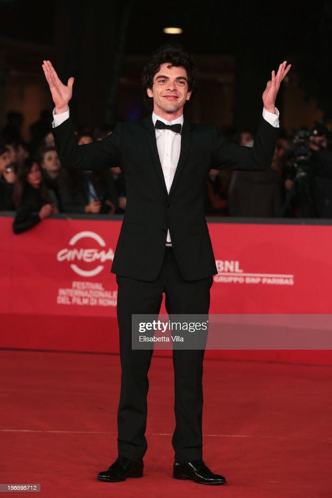 Actor Giovanni Anzaldo attends the 'Razza Bastarda' Premiere during the 7th Rome Film Festival at the Auditorium Parco Della Musica on November 17, 2012 in Rome, Italy.