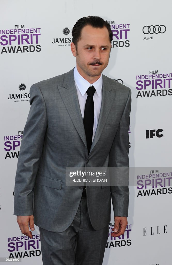 Actor Giovanni Ribisi arrives on the red carpet on February 25, 2012 for the Independent Spirit Awards in Santa Monica, California. AFP PHOTO/FREDERIC J.BROWN
