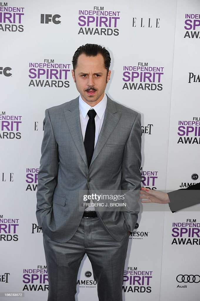 Actor Giovanni Ribisi arrives on the red carpet on February 25, 2012 for the Independent Spirit Awards in Santa Monica, California.