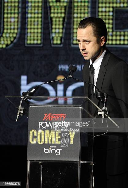 Actor Giovanni Ribisi speaks onstage at Variety's 3rd annual Power of Comedy event presented by Bing benefiting the Noreen Fraser Foundation held at...