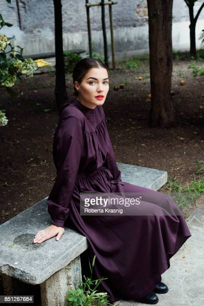 Actor Giusy Buscemi is photographed on July 28 2017 in Rome Italy Styling Flavia Liberatori Hair Makeup Ilaria Di Lauro
