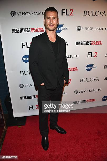 Actor Glen Powell attends MEN'S FITNESS Celebration of The 2015 Game Changers on September 24 2015 in West Hollywood California