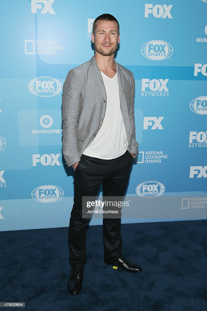 Actor Glen Powell attends the 2015 FOX programming presentation at Wollman Rink in Central Park on May 11, 2015 in New York City.