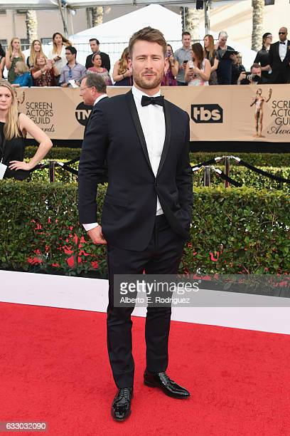 Actor Glen Powell attends the 23rd Annual Screen Actors Guild Awards at The Shrine Expo Hall on January 29 2017 in Los Angeles California