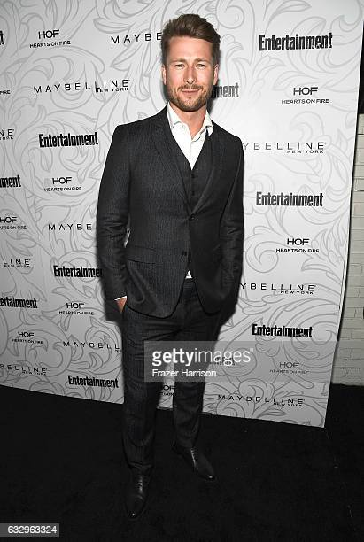 Actor Glen Powell attends the Entertainment Weekly Celebration of SAG Award Nominees sponsored by Maybelline New York at Chateau Marmont on January...
