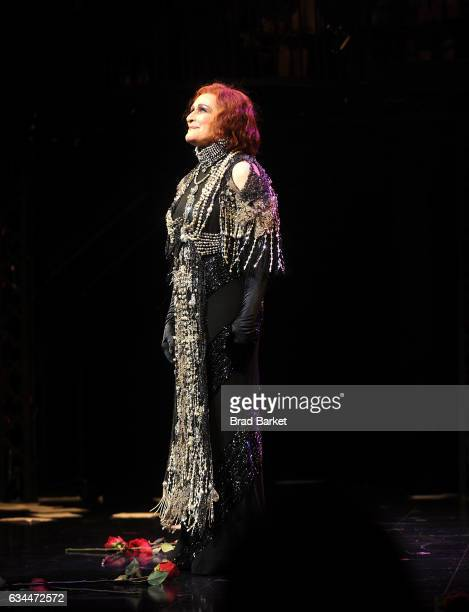 Actor Glenn Close attends the curtain call for Andrew Lloyd Webber's SUNSET BOULEVARD Opens On Broadway Starring Glenn Close on February 9 2017 in...